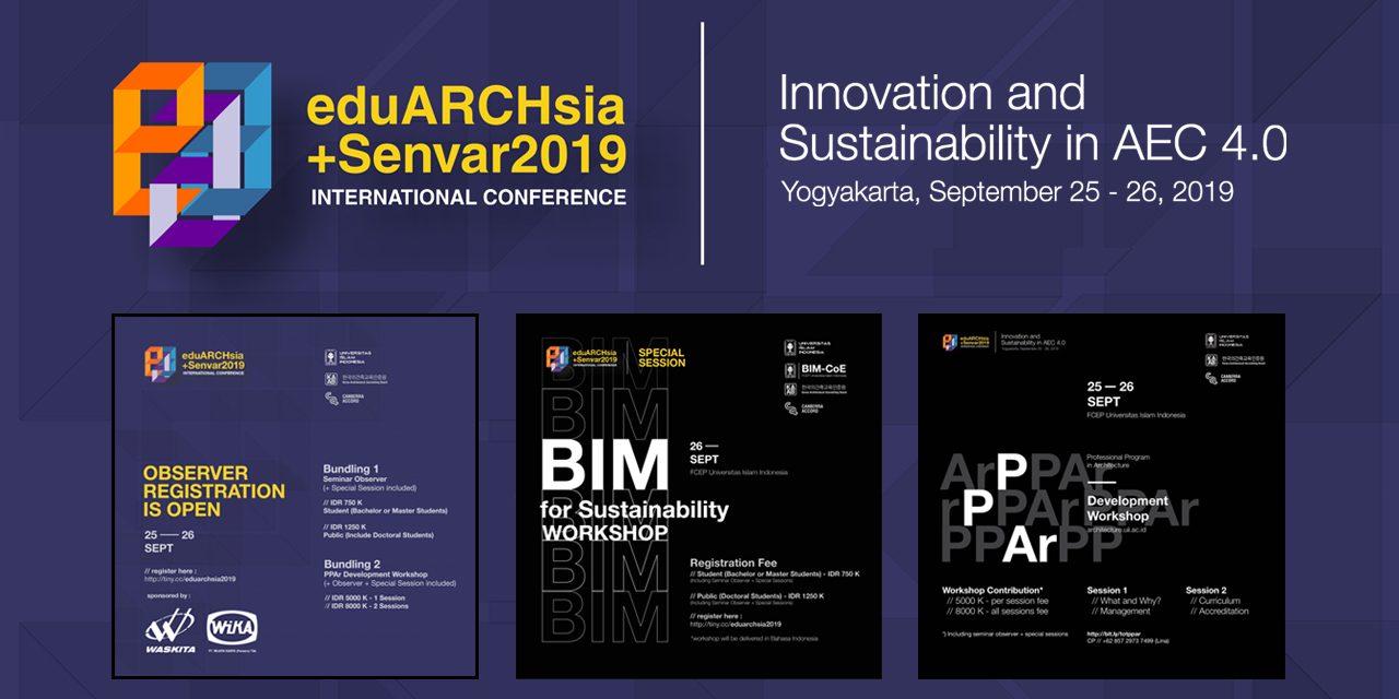 EduArchsia + Senvar 2019 Observers Registration