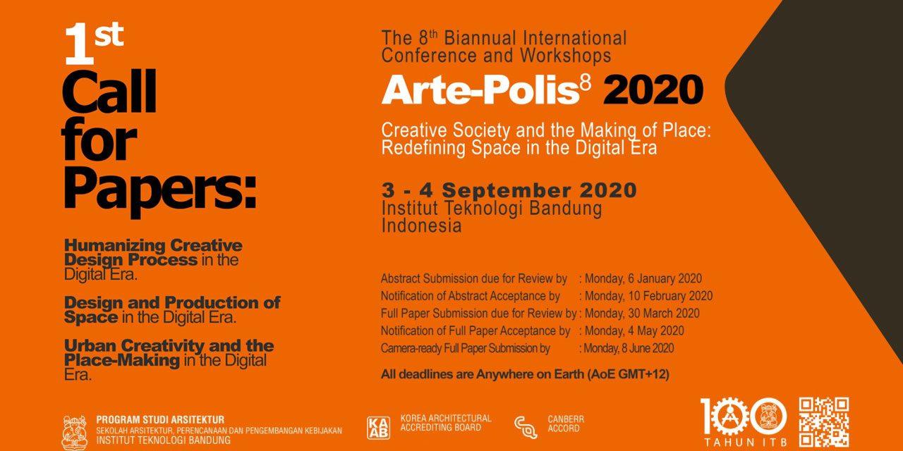 1st Call For Paper; Arte-Polis 8 2020