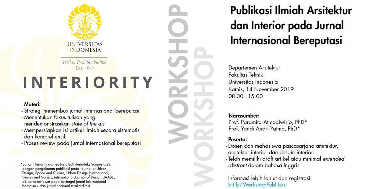 Workshop Publikasi Ilmiah Arsitektur Pada Jurnal Internasional Bereputasi Aptari