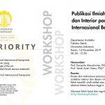 Workshop Publikasi Ilmiah Arsitektur pada Jurnal Internasional Bereputasi