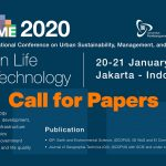 CUSME 2020; Urban Life and Technology – Call for Papers