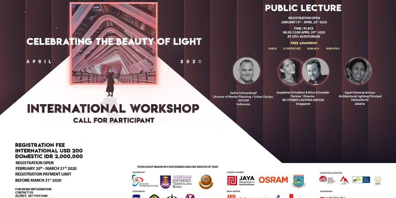 INTERNATIONAL WORKSHOP: CELEBRATING THE BEAUTY OF LIGHT