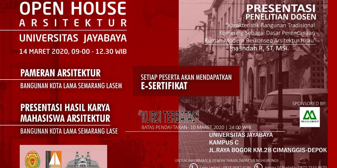 Open House Arsitektur Universitas Jayabaya