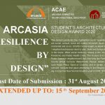 RESILIENCE BY DESIGN – EXTENDED DEADLINE – ARCASIA STUDENTS' ARCHITECTURAL DESIGN COMPETITION 2020
