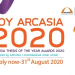 ARCASIA THESIS OF THE YEAR AWARDS 2020 – TOY ARCASIA 2020