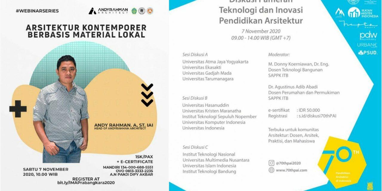 Diskusi Pameran Teknologi dan Inovasi Pendidikan Arsitektur