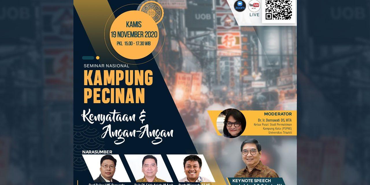 """Seminar Nasional Online """"Kampung Pecinan: Kenyataan & Angan-Angan"""""""