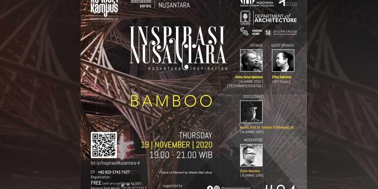 WEBINAR KENDURI NUSANTARA – INSPIRASI NUSANTARA #4- BAMBOO