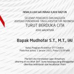 Turut Berduka Cita Atas Wafatnya Bapak Mudhofar S.T., M.T., IAI