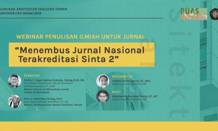 WEBINAR PENULISAN ILMIAH UNTUK JURNAL – Menembus Jurnal Nasional Terakreditasi Sinta 2