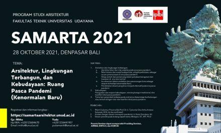 SAMARTA 2021- Seminar Nasional Arsitektur dan Tata Ruang