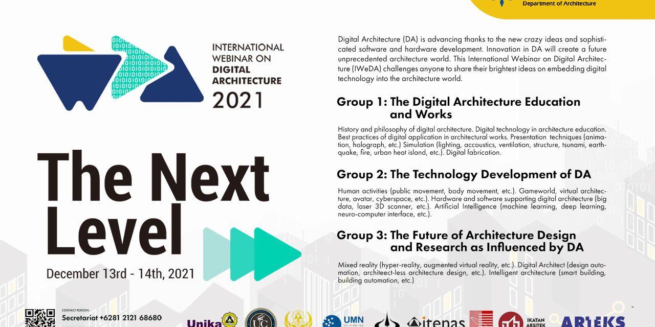 International Webinar on Digital Architecture (IWeDA) 2021