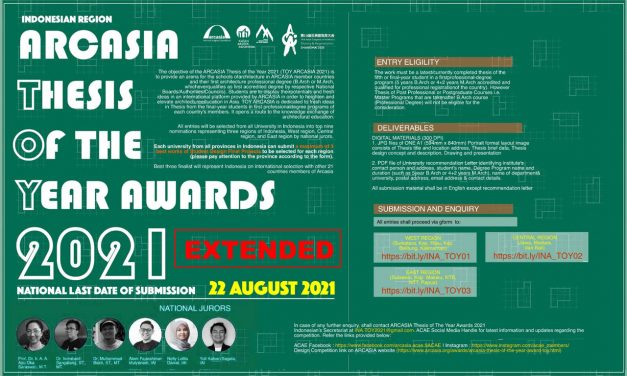 ARCASIA Thesis of the Year Award (TOY) 2021
